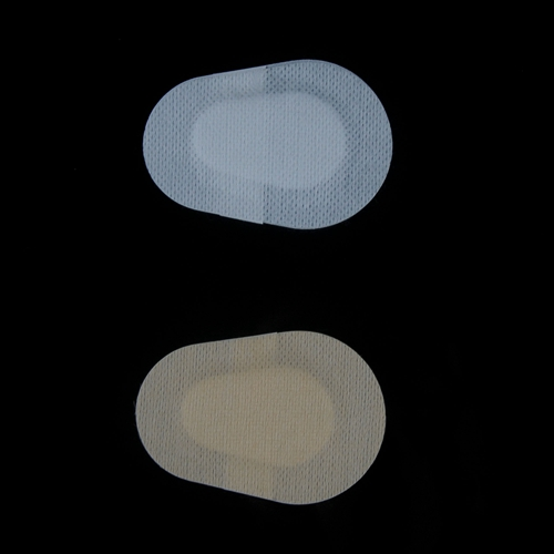 Adhesive white and skin color eye pad
